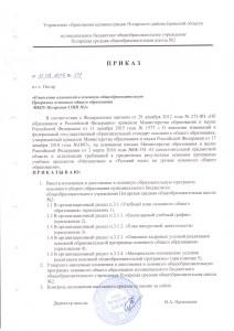 Приказ о внесении изменений в ООП ООО